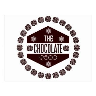 Schokoladenfans Postkarte