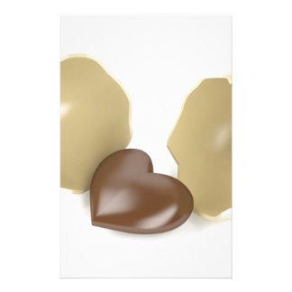 Schokoladenherz Briefpapier