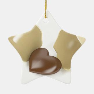Schokoladenherz Keramik Ornament