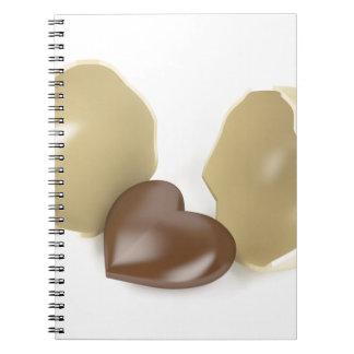Schokoladenherz Spiral Notizblock