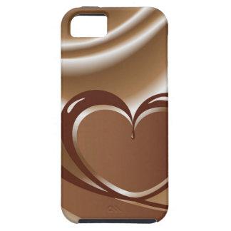 Schokoladenherz von einem Band im Hintergrund von Hülle Fürs iPhone 5