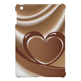 Schokoladenherz von einem Band im Hintergrund von iPad Mini Hülle