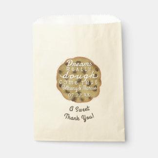 Schokoladenkeks-Hochzeits-Leckerei-Traum-Teig Geschenktütchen