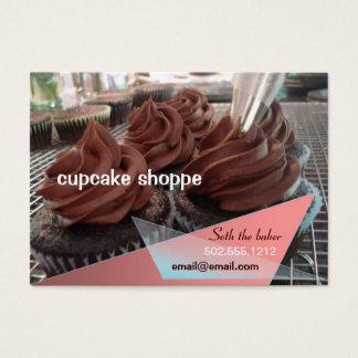 Schokoladenkleine kuchen visitenkarte