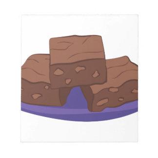 Schokoladenkuchen Notizblock
