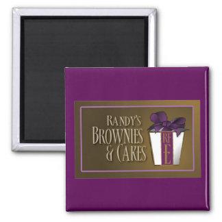 Schokoladenkuchen Randy Fuhrman Quadratischer Magnet