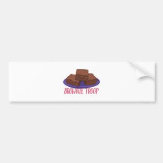 Schokoladenkuchen-Truppe Autoaufkleber