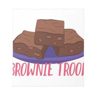 Schokoladenkuchen-Truppe Notizblock