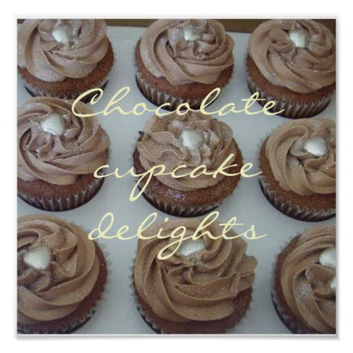 Schokoladenkuchenfreuden Plakatdrucke
