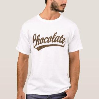 Schokoladenskriptlogo beunruhigt T-Shirt