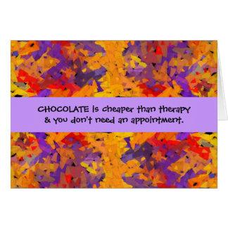 Schokoladentherapie Karte