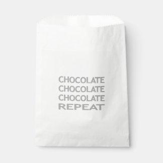 Schokoladenwiederholung - Streifen - Grau Geschenktütchen