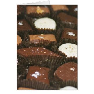 Schokoladenzusammenstellungen Karte