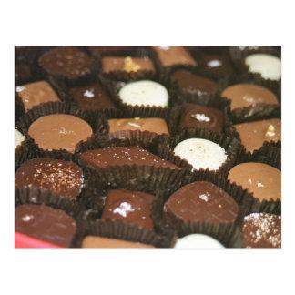 Schokoladenzusammenstellungen Postkarte