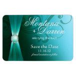 Schön blühen Sie Save the Date Magneten aquamarine Magnet
