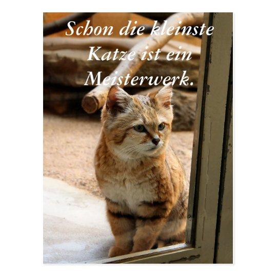 Schon die kleinste Katze ist ei... Postkarte