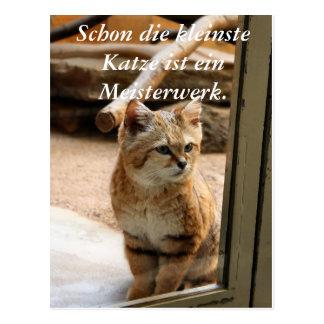 Schon die kleinste Katze ist ei... Postkarten