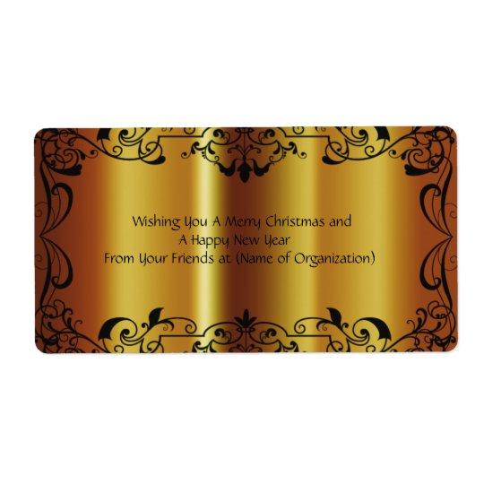 Schön, Imitat, glänzendes Gold, Gewohnheit, Großer Adressaufkleber