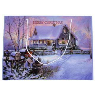 Schön, Land-Weihnachten, Feiertag, Gewohnheit Große Geschenktüte