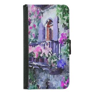 schön, mit Blumen, Balkon, Venedig, Italien, Geldbeutel Hülle Für Das Samsung Galaxy S5