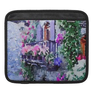 schön, mit Blumen, Balkon, Venedig, Italien, iPad Sleeve