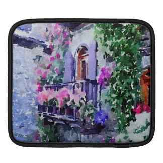 schön, mit Blumen, Balkon, Venedig, Italien, Sleeve Für iPads