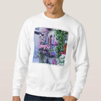 schön, mit Blumen, Balkon, Venedig, Italien, Sweatshirt