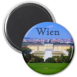 schonbrunn Ansicht Runder Magnet 5,7 Cm