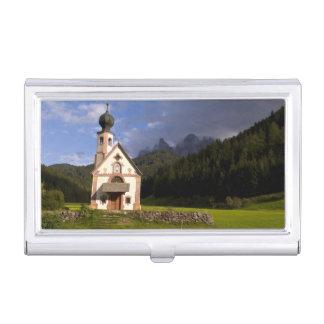 Schöne abgeschiedene einsame Kirche nannte Rainui Visitenkarten Etui
