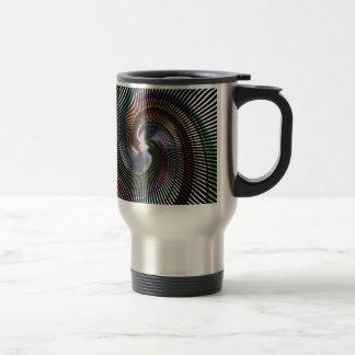 Schöne abstrakte Digital-Kunst - heraus der Edelstahl Thermotasse