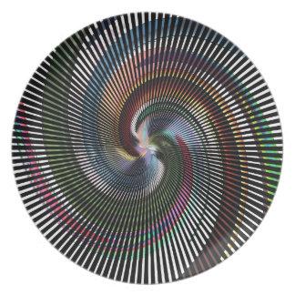 Schöne abstrakte Digital-Kunst - heraus der Flacher Teller
