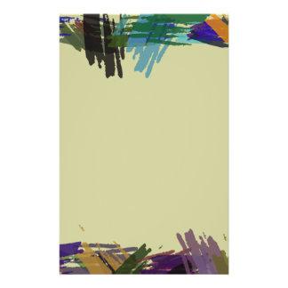 Schöne abstrakte Farben-Bürsten-Farben Flyerbedruckung