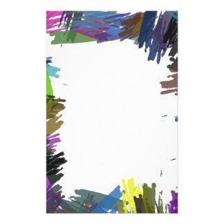 Schöne abstrakte Farben-Bürsten-Farben Bedruckte Flyer