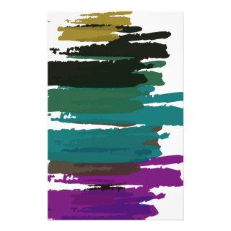Schöne abstrakte Farben-Bürsten-Farben Flyer