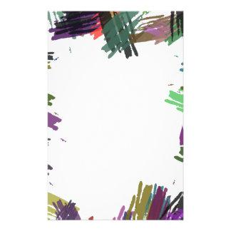 Schöne abstrakte Farben-Bürsten-Farben Flyer Druck