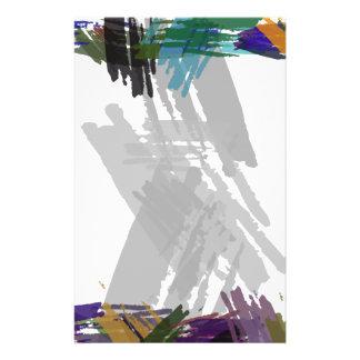 Schöne abstrakte Farben-Bürsten-Farben Flyerdesign