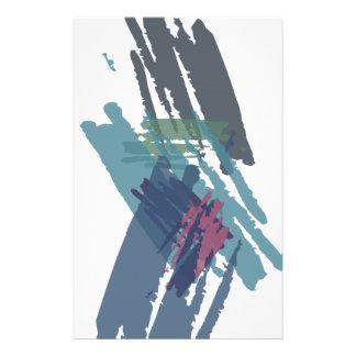 Schöne abstrakte Farben-Bürsten-Farben Flyers