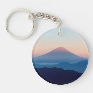 Schöne Ansicht der Fujisan, Japan, Sonnenaufgang Schlüsselanhänger