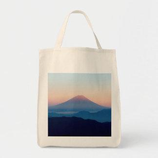 Schöne Ansicht der Fujisan, Japan, Sonnenaufgang Tragetasche