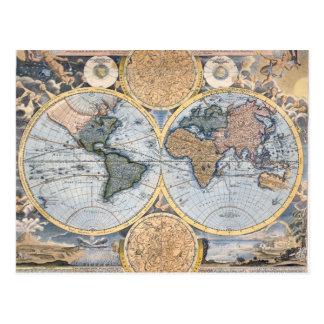 Schöne antike Atlas-Karte Postkarte