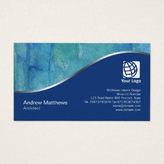 Schöne Aquarell-Wäsche-Architekten-Visitenkarte Visitenkarte