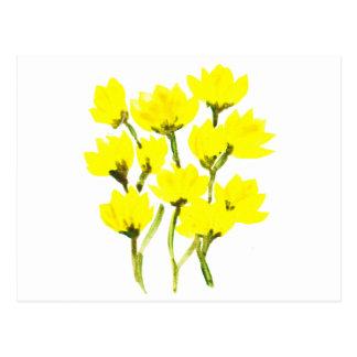 Schöne Aquarellbutterblumeen Postkarte