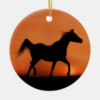 Schöne arabische Pferdeverzierung Keramik Ornament