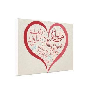 Schöne arabische u. englische Kalligraphie Leinwanddruck