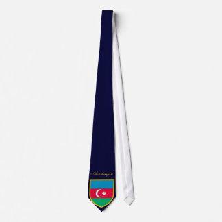 Schöne Aserbaidschan-Flagge Bedruckte Krawatte