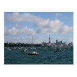 Schöne Auckland-Skyline Postkarten