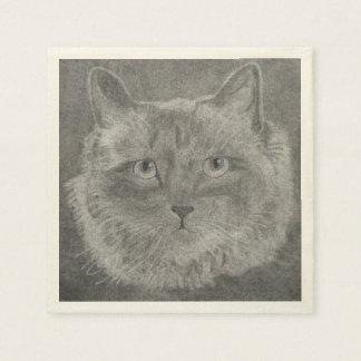 Schöne Augen-siamesische Katze Papierservietten
