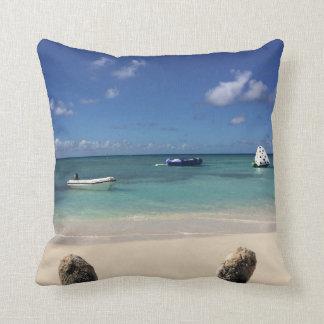 Schöne Bahama Ufer-Ozean-Strand-Landschaft Kissen