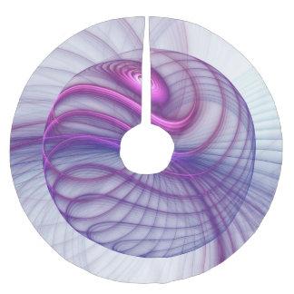 Schöne Bewegungs-abstraktes Fraktal-Kunst-Rosa Polyester Weihnachtsbaumdecke