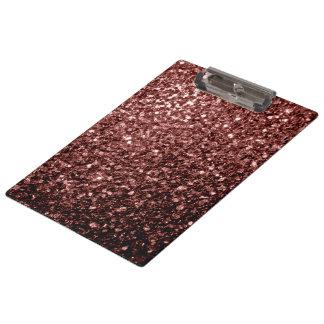 Schöne bezaubernde rote Glitter-Glitzern Browns Klemmbrett